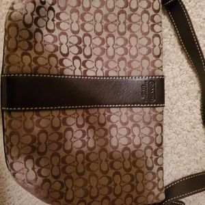 Coach purse brown